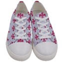ROYAL1 WHITE MARBLE & PINK DENIM Women s Low Top Canvas Sneakers View1