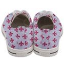 ROYAL1 WHITE MARBLE & PINK DENIM Women s Low Top Canvas Sneakers View4