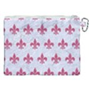 ROYAL1 WHITE MARBLE & PINK DENIM Canvas Cosmetic Bag (XXL) View2