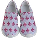 ROYAL1 WHITE MARBLE & PINK DENIM Kid s Lightweight Slip Ons View1