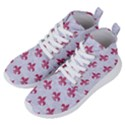 ROYAL1 WHITE MARBLE & PINK DENIM Women s Lightweight High Top Sneakers View2