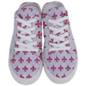 ROYAL1 WHITE MARBLE & PINK DENIM Half Slippers View1