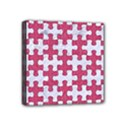 PUZZLE1 WHITE MARBLE & PINK DENIM Mini Canvas 4  x 4  View1