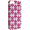 PUZZLE1 WHITE MARBLE & PINK DENIM Apple iPhone 5 Classic Hardshell Case View2