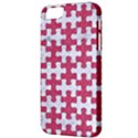 PUZZLE1 WHITE MARBLE & PINK DENIM Apple iPhone 5 Classic Hardshell Case View3