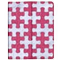 PUZZLE1 WHITE MARBLE & PINK DENIM Apple iPad 3/4 Flip Case View1
