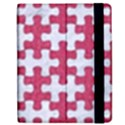 PUZZLE1 WHITE MARBLE & PINK DENIM Apple iPad 3/4 Flip Case View2