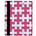 PUZZLE1 WHITE MARBLE & PINK DENIM Apple iPad 3/4 Flip Case View3