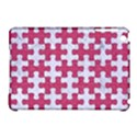 PUZZLE1 WHITE MARBLE & PINK DENIM Apple iPad Mini Hardshell Case (Compatible with Smart Cover) View1