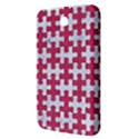 PUZZLE1 WHITE MARBLE & PINK DENIM Samsung Galaxy Tab 3 (7 ) P3200 Hardshell Case  View3