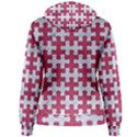 PUZZLE1 WHITE MARBLE & PINK DENIM Women s Pullover Hoodie View2