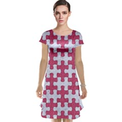 Puzzle1 White Marble & Pink Denim Cap Sleeve Nightdress
