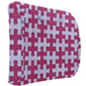 PUZZLE1 WHITE MARBLE & PINK DENIM Back Support Cushion View2