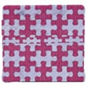 PUZZLE1 WHITE MARBLE & PINK DENIM Back Support Cushion View4