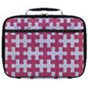 PUZZLE1 WHITE MARBLE & PINK DENIM Full Print Lunch Bag View1