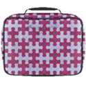 PUZZLE1 WHITE MARBLE & PINK DENIM Full Print Lunch Bag View2