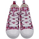 PUZZLE1 WHITE MARBLE & PINK DENIM Kid s Mid-Top Canvas Sneakers View1