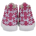PUZZLE1 WHITE MARBLE & PINK DENIM Kid s Mid-Top Canvas Sneakers View4