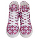 PUZZLE1 WHITE MARBLE & PINK DENIM Women s Hi-Top Skate Sneakers View1