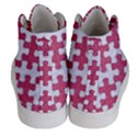 PUZZLE1 WHITE MARBLE & PINK DENIM Women s Hi-Top Skate Sneakers View4