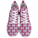 PUZZLE1 WHITE MARBLE & PINK DENIM Men s Lightweight High Top Sneakers View1