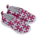 PUZZLE1 WHITE MARBLE & PINK DENIM Velcro Strap Shoes View3