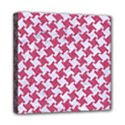 HOUNDSTOOTH2 WHITE MARBLE & PINK DENIM Mini Canvas 8  x 8  View1
