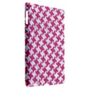 HOUNDSTOOTH2 WHITE MARBLE & PINK DENIM Apple iPad 3/4 Hardshell Case (Compatible with Smart Cover) View2