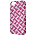 HOUNDSTOOTH2 WHITE MARBLE & PINK DENIM Apple iPhone 5 Classic Hardshell Case View3