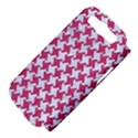 HOUNDSTOOTH2 WHITE MARBLE & PINK DENIM Samsung Galaxy S III Hardshell Case (PC+Silicone) View4