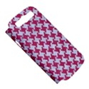 HOUNDSTOOTH2 WHITE MARBLE & PINK DENIM Samsung Galaxy S III Hardshell Case (PC+Silicone) View5