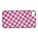 HOUNDSTOOTH2 WHITE MARBLE & PINK DENIM Apple iPhone 4/4S Hardshell Case with Stand View1