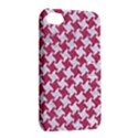 HOUNDSTOOTH2 WHITE MARBLE & PINK DENIM Apple iPhone 4/4S Hardshell Case with Stand View2