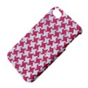 HOUNDSTOOTH2 WHITE MARBLE & PINK DENIM Apple iPhone 4/4S Hardshell Case with Stand View4