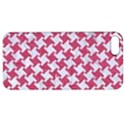 HOUNDSTOOTH2 WHITE MARBLE & PINK DENIM Apple iPhone 5 Hardshell Case with Stand View1