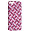 HOUNDSTOOTH2 WHITE MARBLE & PINK DENIM Apple iPhone 5 Hardshell Case with Stand View2