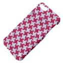 HOUNDSTOOTH2 WHITE MARBLE & PINK DENIM Apple iPhone 5 Hardshell Case with Stand View4