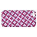 HOUNDSTOOTH2 WHITE MARBLE & PINK DENIM Apple iPhone 5 Premium Hardshell Case View1