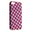 HOUNDSTOOTH2 WHITE MARBLE & PINK DENIM Apple iPhone 5 Premium Hardshell Case View2