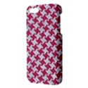 HOUNDSTOOTH2 WHITE MARBLE & PINK DENIM Apple iPhone 5 Premium Hardshell Case View3