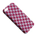 HOUNDSTOOTH2 WHITE MARBLE & PINK DENIM Apple iPhone 5 Premium Hardshell Case View5