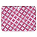 HOUNDSTOOTH2 WHITE MARBLE & PINK DENIM Samsung Galaxy Tab 3 (10.1 ) P5200 Hardshell Case  View1