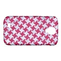 HOUNDSTOOTH2 WHITE MARBLE & PINK DENIM Samsung Galaxy S4 Classic Hardshell Case (PC+Silicone) View1