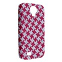 HOUNDSTOOTH2 WHITE MARBLE & PINK DENIM Samsung Galaxy S4 Classic Hardshell Case (PC+Silicone) View2