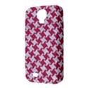 HOUNDSTOOTH2 WHITE MARBLE & PINK DENIM Samsung Galaxy S4 Classic Hardshell Case (PC+Silicone) View3
