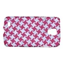 HOUNDSTOOTH2 WHITE MARBLE & PINK DENIM Galaxy S4 Active View1