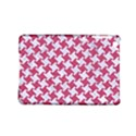 HOUNDSTOOTH2 WHITE MARBLE & PINK DENIM iPad Mini 2 Hardshell Cases View1