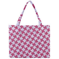 HOUNDSTOOTH2 WHITE MARBLE & PINK DENIM Mini Tote Bag