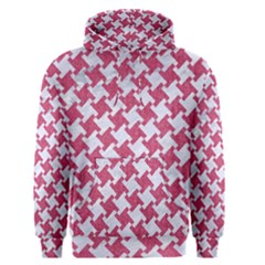 HOUNDSTOOTH2 WHITE MARBLE & PINK DENIM Men s Pullover Hoodie