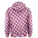 HOUNDSTOOTH2 WHITE MARBLE & PINK DENIM Men s Zipper Hoodie View2
